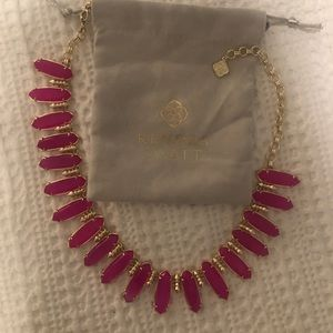 Kendra Scott Pink Agate Gabriella Necklace Rare